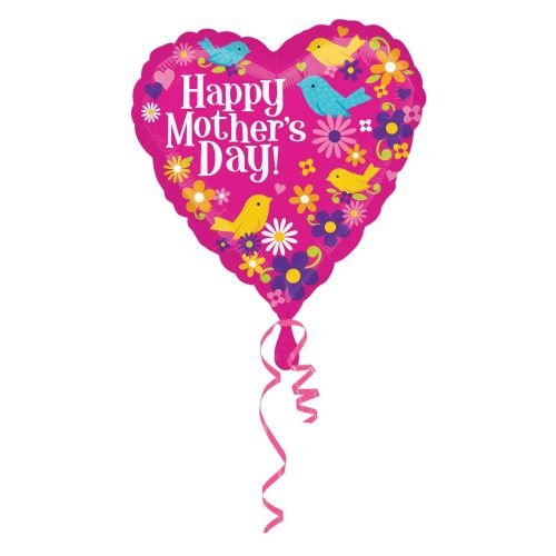 Happy Mother's Day Birds Standard HX Foil Balloons S40